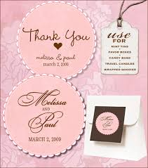 Thank You Tags Wedding Favors Templates by Sweet Retro Free Wedding Labels Print Templates