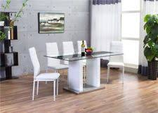 Glass Dining Table And Chairs Glass Table And Chair Sets Ebay