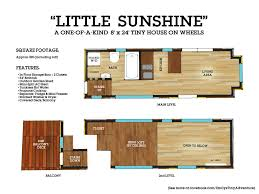 custom tiny house on wheels with a split level floor plan plans