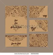 cards for marriage wedding invitation template invitation envelope thank stock vector