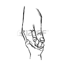pictures child parent holding hands sketches drawing art gallery