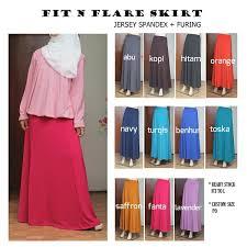 rok panjang muslim rok panjang muslimah fit n flare skirt griya raditya