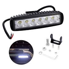6 inch light bar led light bar with single row 6 led lights 6inch 18w 6500k ip67