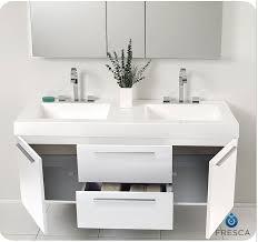 54 Bathroom Vanity Fresca Fvn8013go Opulento 54 Inch White Modern Sink