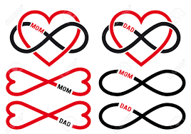 love mom dad infinity hearts for mother u0027s day father u0027s day