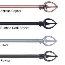 lavish home spear finial modern adjustable curtain rod set free