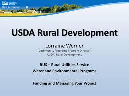 usda rual development usda rural development lorraine werner community programs program