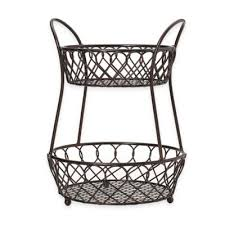 fruit basket stand buy 2 tiered fruit basket from bed bath beyond