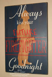 Firefighter Nursery Decor Firefighter Nursery Firefighter Wall Custom Wood Sign