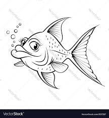 cartoon drawing fish royalty free vector image