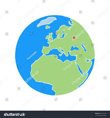 Moscow On Map Moscow On World Map White Background Stock Illustration 561166450
