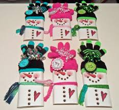 christmas candy bar wrappers using socks for hat saw these