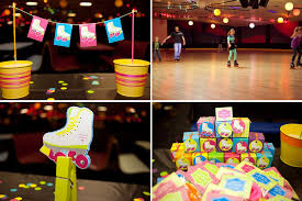 80s party table decorations kara s party ideas neon roller skate disco teen tween 11th birthday