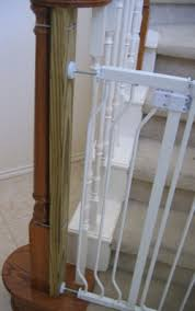 What Is A Banister To Mount Baby Gate To Irregularly Shaped Banister Post Attach 2x4