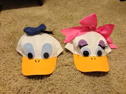 diy donald and daisy hats just finished these hats for jpk and i