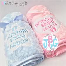 personalised baby fluffy blanket luxury embroidered blankets