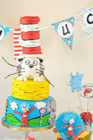 kara u0027s party ideas colorful dr seuss birthday party