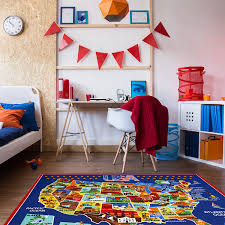 Map Bedding Amazon Com Smithsonian Rug Us Map Learning Carpets Bedding Play