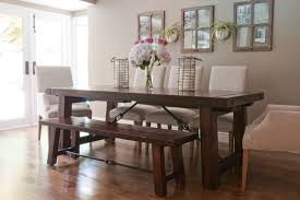 Rustic Bench Dining Table Dining Room Tables With Benches Vintage Rustic Table