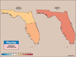 temperature map of florida map html