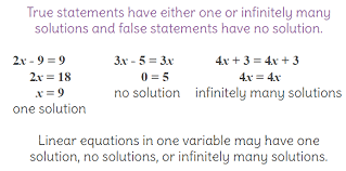 2 solve linear equations in one variable with no solution one