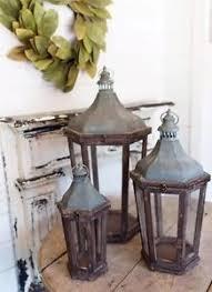 Shabby Chic Pottery by Pottery Barn Lanterns Wedding Farmhouse Shabby Chic Park Hill