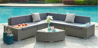 VALENCIA Aluminum Frame Sectional Outdoor Sofa Set With Quarter - Round outdoor sofa 2