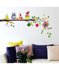 decorative wall stickers decoration stickerskart christmas pvc decorative wall stickers decoration stickerskart christmas pvc multicolour buy merry winter owls sdl405913520