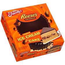 Walmart Halloween Cakes Friendly U0027s Reese U0027s Peanut Butter Cups Ice Cream Cake 60 Fl Oz
