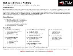 Internal Audit Job Description For Resume by Risk Based Internal Auditing
