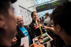 Canada Flag Bearer Canada U0027s Olympic Athletes Return Home To Cheering Fans And