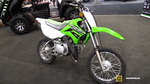 2015 kawasaki klx 110 l walkaround 2014 toronto atv show youtube