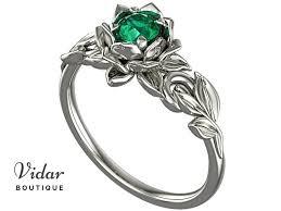 flower emerald rings images Lotus flower emerald engagement ring vidar boutique vidar boutique jpg