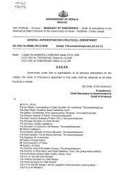 order of precedence kerala protocol