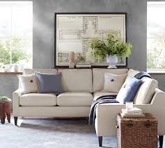 Sectional Pottery Barn Beverly Upholstered 3 Piece L Shaped Sectional Pottery Barn