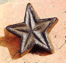 rustic cast iron star cabinet knobs drawer pulls primitive western