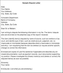 dispute credit letter letter idea 2018