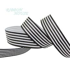 black and white striped ribbon 5 yards lot 1 25mm black and white stripe grosgrain ribbon
