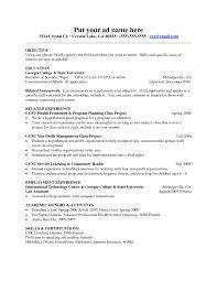 Computer Science Resume Objective Resume Format For Nursing Lecturer Resume Sles Business Management