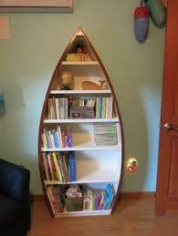 bookcase for baby room 3 foot row boat bookshelf bookcase shelves skiff schooner canoe