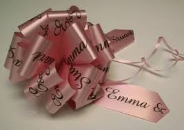 pull ribbon personalised handmade pull bows personalised printed ribbon