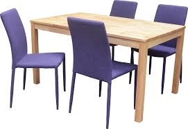 table et 4 chaises ensemble table et 4 chaises contemporain naturel violet nyro