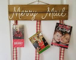christmas card holder card holder etsy
