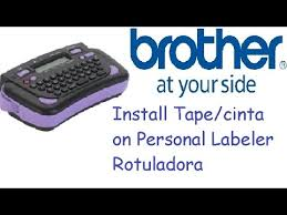 how to install brother p touch tape how to print on brother pt 80 install tape cinta youtube