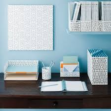 Blue Desk Accessories Brocade White Metal Desk Accessories My Space Pinterest Wall White
