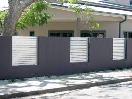 concrete fences aftec amazing wall fencing designs home design