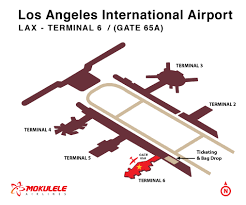 Map Of Los Angeles Airports Los Angeles Airport California Mokulele Airlines