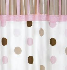 Pink Black And White Shower Curtain Pink And Brown Polka Dot Curtains Park B Smith Clic Polka Dot