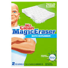 mr clean magic eraser bath scrubber 2 pack 003700084552 the mr clean magic eraser bath scrubber 2 pack