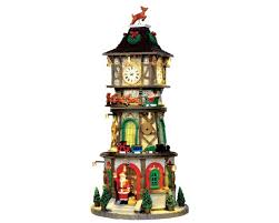 lemax christmas lemax collection christmas clock tower with adaptor 45735